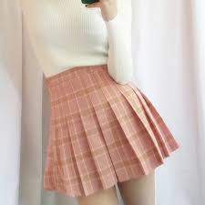 pleated skirts korea s sweet grid pleated skirt skirts women fashion europe
