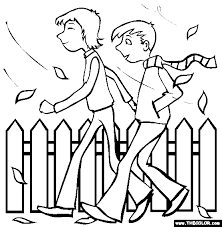 coloring pages of people fall online coloring pages page 1