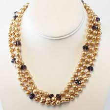 multi pearl necklace images Brown multi strand pearl necklace jpg
