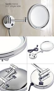 lighted magnifying makeup mirror single side led lighted magnifying makeup mirror 1002 magnifying