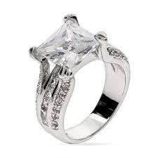 cz engagement ring style princess cut cz engagement ring s addiction