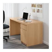Oak Effect Computer Desk Malm Desk Oak Veneer 140x65 Cm Ikea