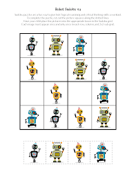robot sudoku puzzles free printables gift of curiosity