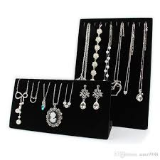 jewelry necklace holder stand images 2018 fashion jewelry display stand velvet necklaces display stand jpg