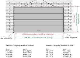 garage door dimensions woglod org