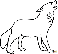 howling wolf coloring page free printable coloring pages