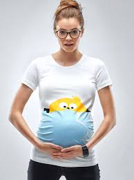 easter baby chicken maternity t shirt peek a boo chicken