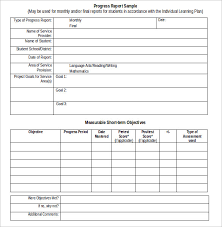 student progress report template sle student progress report 17 documents in pdf word
