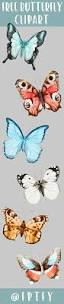 set of 6 free butterfly clipart cu ok free pretty things for you