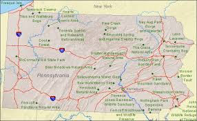 penn state park map pennsylvania state map showing areas landmarks