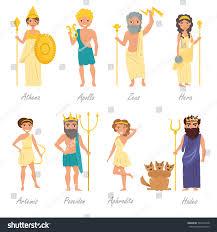 greek gods artemis poseidon aphrodite hades stock vector 509161048