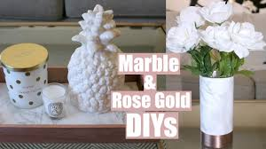 marble u0026 rose gold diy decor youtube
