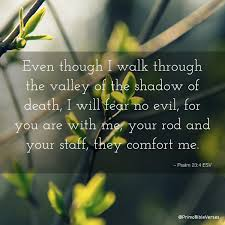 Your Rod And Your Staff Comfort Me Bible Verses About Evil