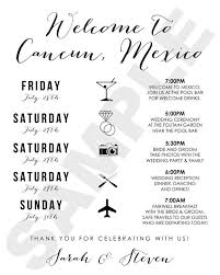 destination wedding itinerary template best 25 wedding weekend itinerary ideas on wedding