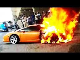 lamborghini sports car price in india lamborghini gallardo in flames in delhi india car accidents
