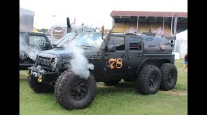 hauk designs sema walk around of a steam powered jeep jk 6x6 youtube