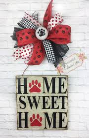 Mohawk Home Wipe Your Paws Dog Door Hanger Pet Door Hanger Dog Door Decor Paw Door Hanger