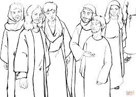 people brought to jesus a man who was deaf and mute coloring page