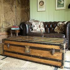 Vintage Trunk Coffee Table Vintage Trunks U0026 Chests Collection On Ebay