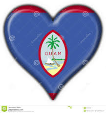 Guam Flag Guam Button Flag Heart Shape Stock Illustration Illustration Of