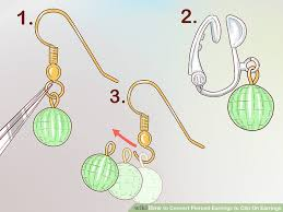 earring pierced 3 ways to convert pierced earrings to clip on earrings wikihow