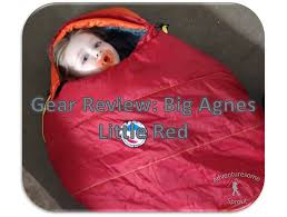 gear review big agnes little red 15 toddler sleeping bag