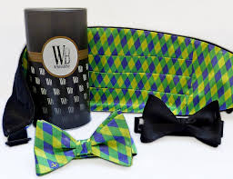 mardi gras bow tie reversible cummerbund and bow set in mardi gras by wonderbund