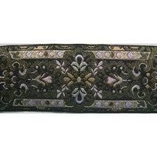 ribbon trim metallic jacquard ribbon trim multi on black 1 75 inch