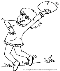 digital dunes football player of sports coloring pages