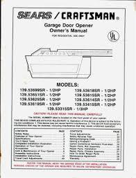 garage doors craftsman garage door opener manual pdf manuals