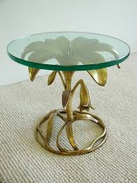 flower table arthur court aluminum flower table ca 1970s modernaire