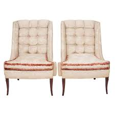 Wing Chair Custom Gudinna Tall Barrel Wing Chair For Sale At 1stdibs