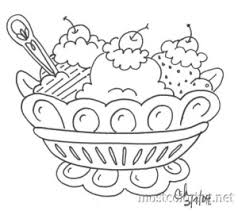 ice cream sundae coloring page free download
