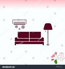 home interior design icon sofa icon stock vector 582464743