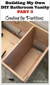 Design My Own Bathroom build a diy bathroom vanity part 3 creating the partitions