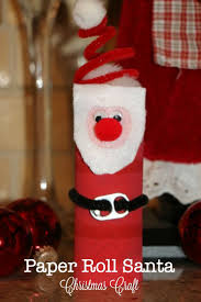 santa christmas craft for toddlers toilet paper rolls santa