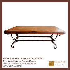 Rounded Edge Coffee Table - rectangular coffee table iron base chocolate finish copper natural