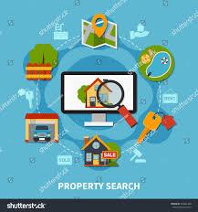flat design real estate concept various stock vector 553681468