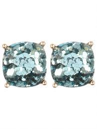 glitter stud earrings blue glitter stud earrings ultraviolet