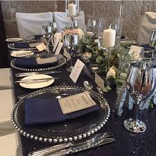 navy blue table linens navy blue sequin table cloth harbourside decorators