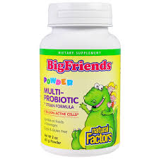 natural factors bigfriends multi probiotic powder 2 oz 60 g