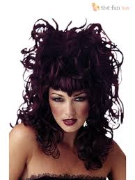 ladies evil gothic witch vampire wig womens halloween fancy