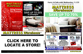 flipsnack thanksgiving sale by mattress warehouse