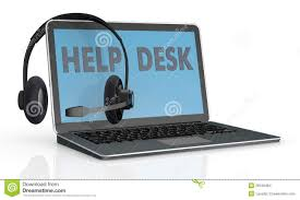 Laptop Help Desk Concept Of Help Desk Service Stock Illustration Illustration Of