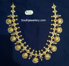 south jewellery designers simple ram parivar kasu necklace photo jewellery