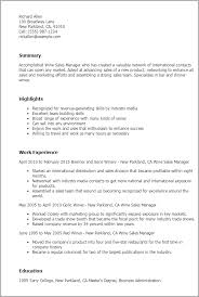 Sales Director Resume Examples by Professional Wine Sales Manager Templates To Showcase Your Talent