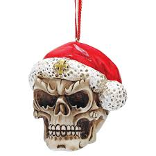 design toscano skelly claus ii santa skeleton ornament