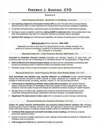 Cfo Resume Sample by Here Are Free Sample Cfo Resumes From Sites Around The Web