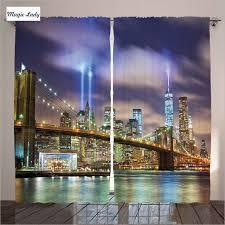 Manhattan Curtains Curtains New York City Living Room Bedroom Manhattan Skyline