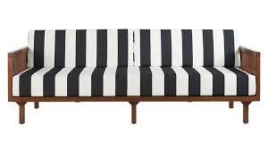 Black And White Bed Tropez Black And White Stripe Outdoor Sofa Cb2